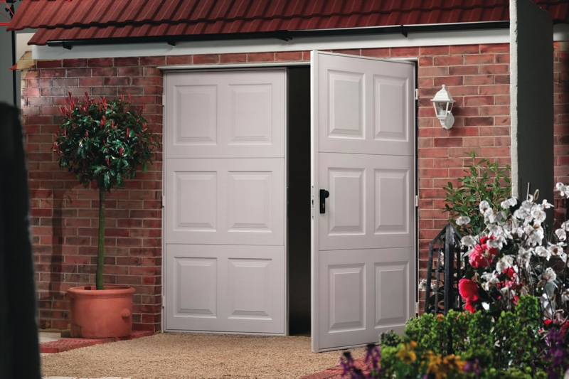 side hinged opening garage doors by kemp garage doors