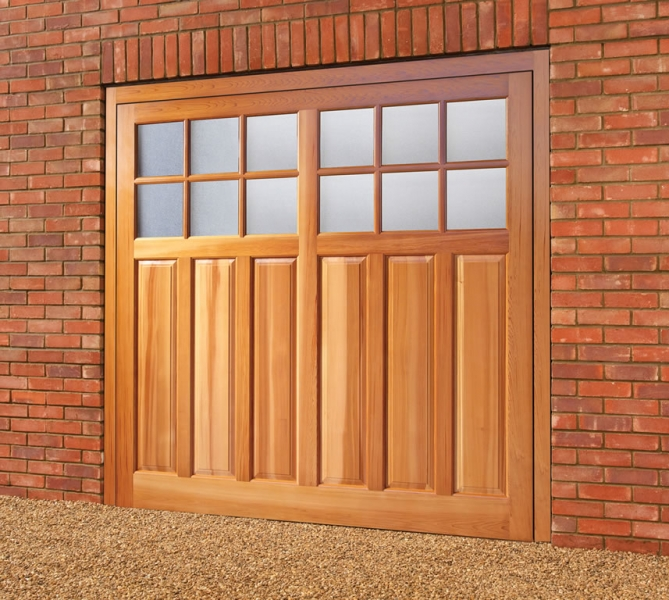 Woodrite garage doors side hingded opening garage door for Garage side door and frame